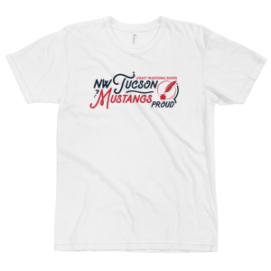 LTS NW Tucson Mustangs White Script T-shirt 2020